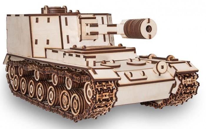 Купить Сборные модели, Eco Wood Art Конструктор 3D EWA Танк САУ-212