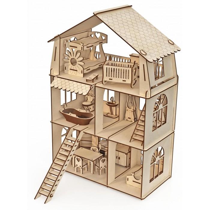 Купить Сборные модели, ХэппиДом Конструктор-кукольный домик Коттедж с мебелью Premium