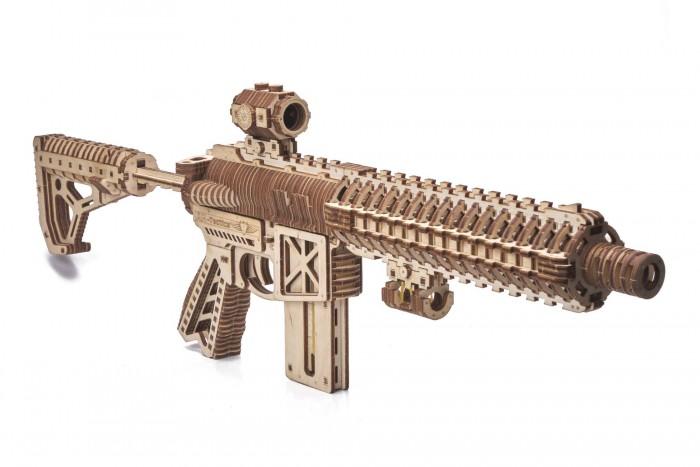 Купить Сборные модели, Wood Trick Механическая сборная модель Штурмовая винтовка AR-T (496 деталей)
