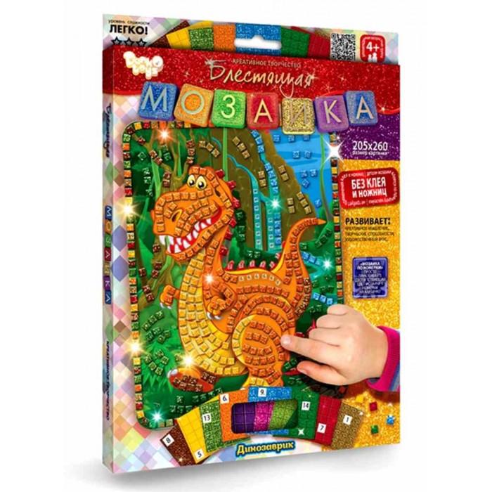 Наборы для творчества Danko Toys Набор для творчества Eva Мозаика самоклеящаяся Динозаврик