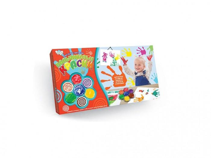 Краски Danko Toys Набор для творчества Моё первое творчество Пальчиковые краски 4 цветов