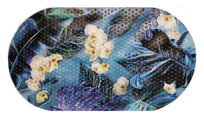 коврики для купания aqua prime spa для ванны тропические листья 68х38 см Коврики для купания Aqua-Prime Spa для ванны Орхидеи 68х38 см