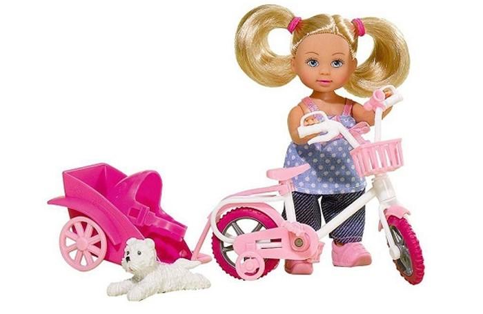 Купить Куклы и одежда для кукол, Simba Кукла Еви на велосипеде с собачкой 12 см
