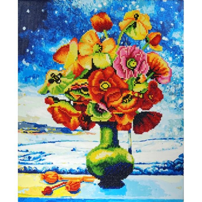 Купить Картины по номерам, Color Kit Алмазная картина-раскраска Снежные маки