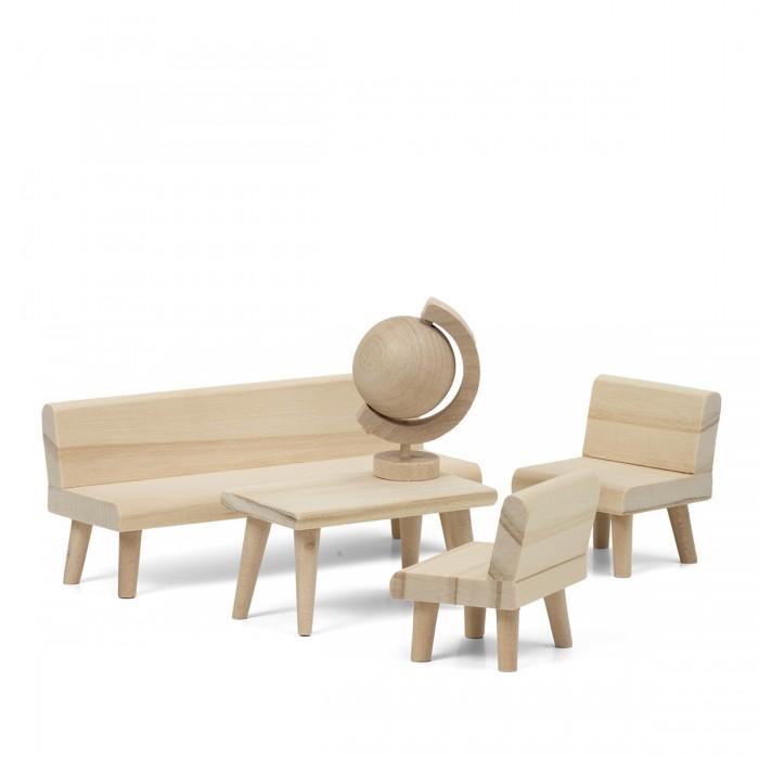 Кукольные домики и мебель Lundby Набор деревянной мебели для домика Сделай сам Гостиная