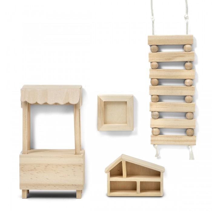 Кукольные домики и мебель Lundby Набор деревянной мебели для домика Сделай сам Игрушки
