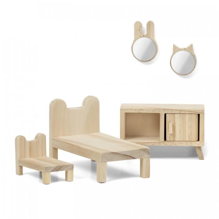 Кукольные домики и мебель Lundby Набор деревянной мебели для домика Сделай сам Спальня