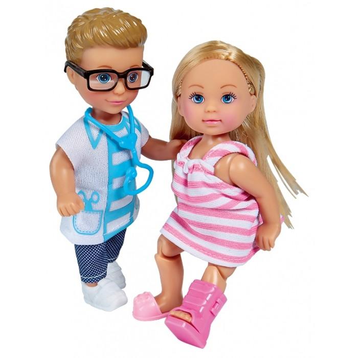 Картинка для Куклы и одежда для кукол Simba Куклы Еви и Тимми Набор На приеме у доктора 12 см