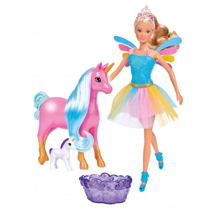 Картинка для Куклы и одежда для кукол Simba Кукла Штеффи с беременным единорогом 29 см