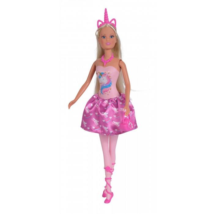 Картинка для Куклы и одежда для кукол Simba Кукла Штеффи в платье с принтом Единорог 29 см