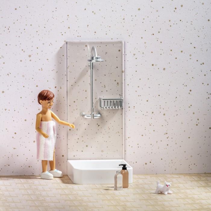 Кукольные домики и мебель Lundby Набор мебели для домика Душ мебель для домашнего кабинета