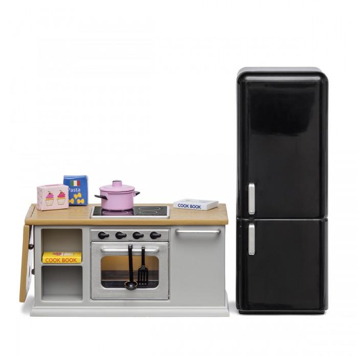 Lundby Набор мебели для домика Кухонный остров и холодильник фото