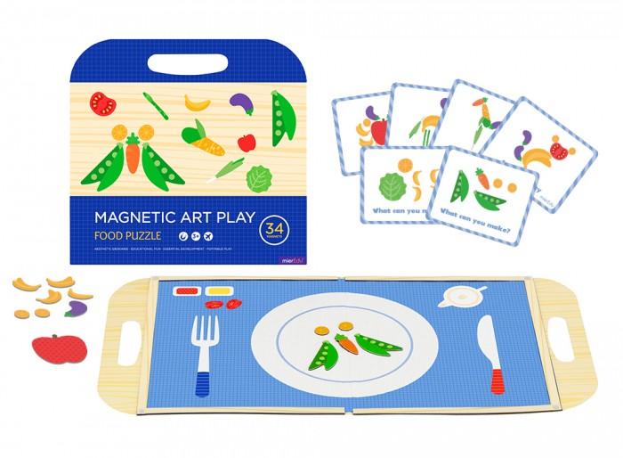 MierEdu Игровой набор с магнитным пазлом Еда