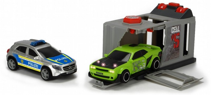 Машины Dickie Набор Побег из тюрьмы (2 машинки: Dodge и Mercedes) dickie toys игровой набор dickie toys побег из тюрьмы свет звук