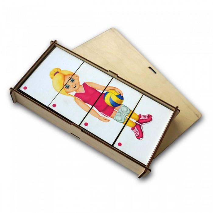 корзины составные из водного гиацинта 3 шт Деревянные игрушки Paremo Игровой набор Составные картинки Спорт 1
