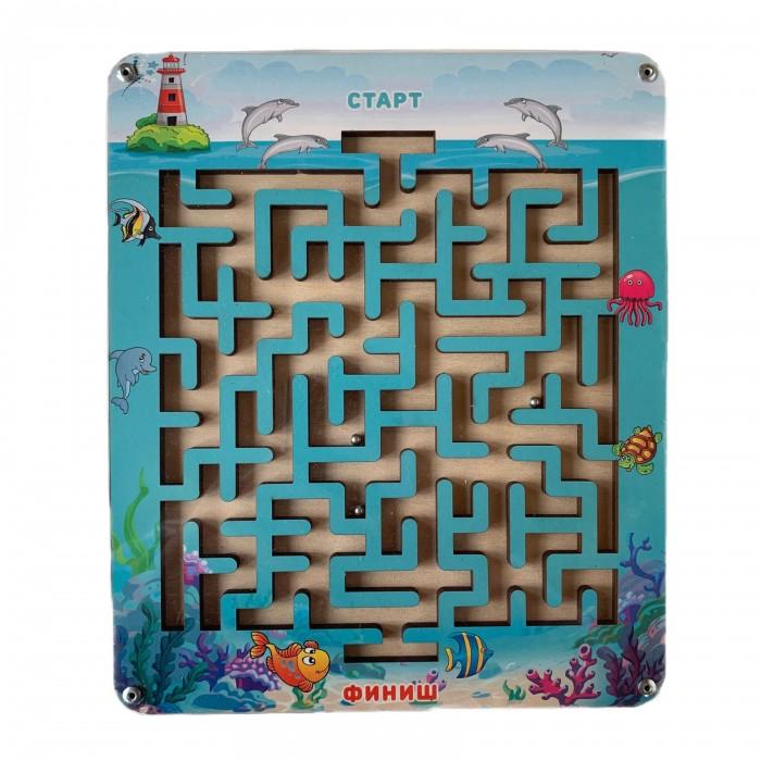 Купить Деревянные игрушки, Деревянная игрушка Paremo Лабиринт с шариком Подводный мир