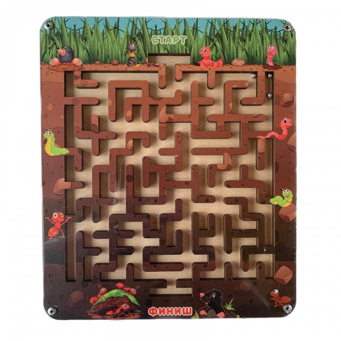 Купить Деревянные игрушки, Деревянная игрушка Paremo Лабиринт с шариком Подземный мир