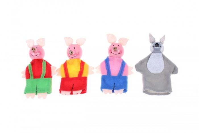 Ролевые игры Bradex Детский пальчиковый кукольный театр Три поросенка и волк умка кукольный театр три поросенка