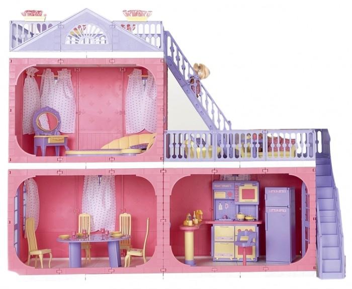 Купить Кукольные домики и мебель, Огонек Коттедж Маленькая принцесса без мебели