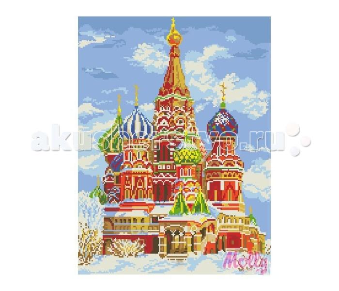Molly Мозаичная картина Собор Василия Блаженного 40х50 см