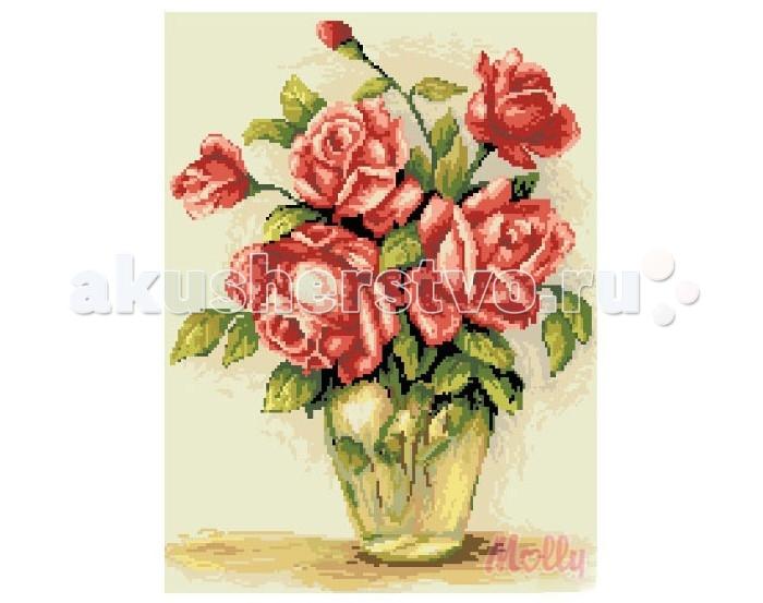 Molly Мозаичная картина Нежные розы 40х50 см