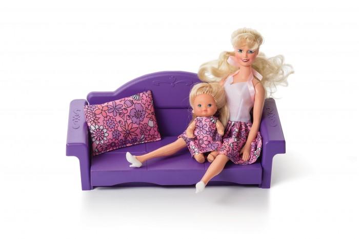 Кукольные домики и мебель Огонек Диван раскладной Конфетти