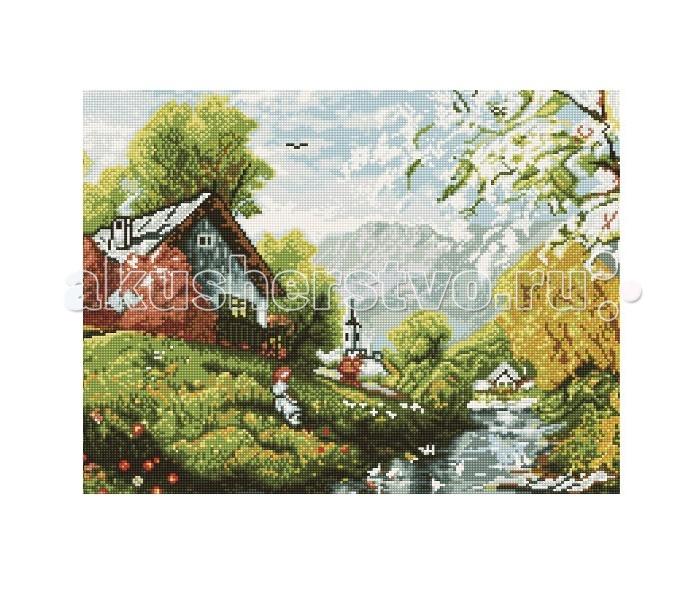 Molly Мозаичная картина Деревенька 40х50 см