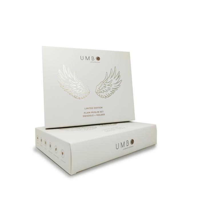 Пеленки Umbo Комплект Золотые крылья холдер и фотопелёнка (120х120 см)