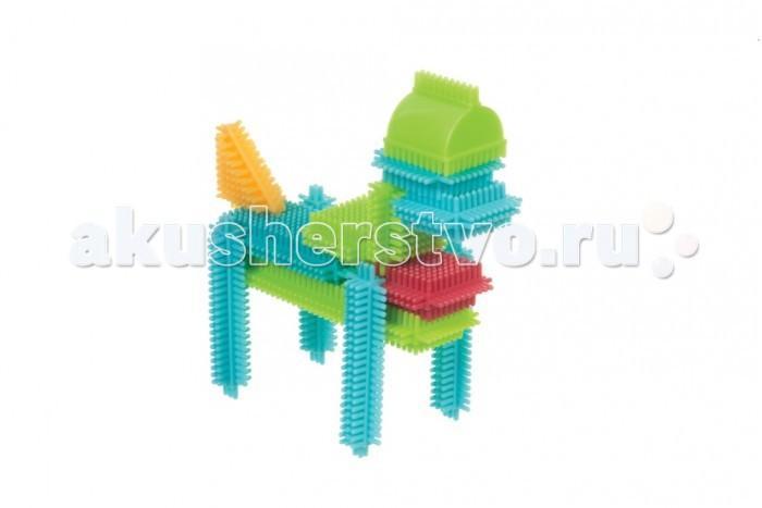 Конструктор Bristle Blocks игольчатый в коробке 56 деталейигольчатый в коробке 56 деталейBristle Blocks Конструктор игольчатый в коробке 56 дет.  Конструктор игольчатый в чемодане 56 дет арт 68164 Bristle Blocks - все элементы конструктора 50 дет имеют игольчатые стороны, что позволяет легко и прочно соединять элементы между собой в любой плоскости. Конструктор упакован в коробку.  Особенности: Точечный массаж маленьких ручек и пальчиков — игольчатые детальки массируют всю ручку ребенка как бы он не захватывал деталь Легкий в использовании — детальки плотно соединяются и разъединяются между собой, благодаря иголочкам детали конструктора можно соединять друг с другом практически в любых плоскостях Безопасный для малыша – все детальки изготовлены из первичного пластика и не имеют резкого запаха Красочный – у деталек насыщенные, но мягкие цвета, которые благоприятно влияют на психику ребенка Можно собирать целые серии благодаря разнообразию ассортимента, а также есть вращающиеся детальки.<br>