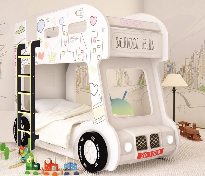 Подростковая кровать Red River двухъярусная Compact автобус Сити