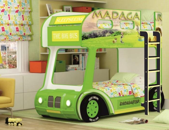 Подростковая кровать Red River двухъярусная Compact автобус Мадагаскар