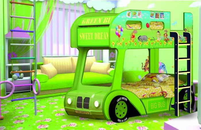 Подростковая кровать Red River двухъярусная Compact автобус Винни Пух