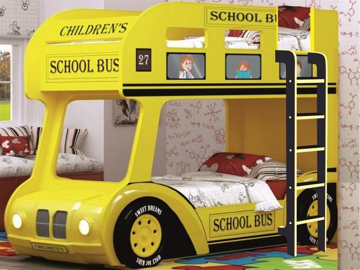 Подростковая кровать Red River двухъярусная Compact автобус Школьный