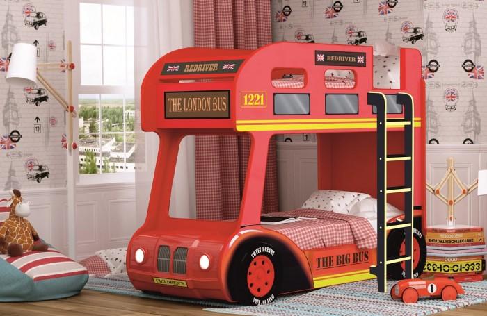 Подростковая кровать Red River двухъярусная Compact автобус Лондон