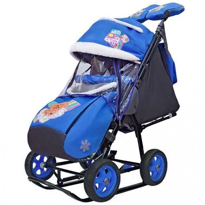 Купить Санки-коляска Galaxy Snow City-1 2 Медведя на облаке на больших колёсах Ева в интернет магазине. Цены, фото, описания, характеристики, отзывы, обзоры
