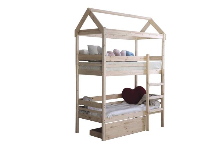 Кровати для подростков Green Mebel двухъярусная домик Baby-house 80х160 см