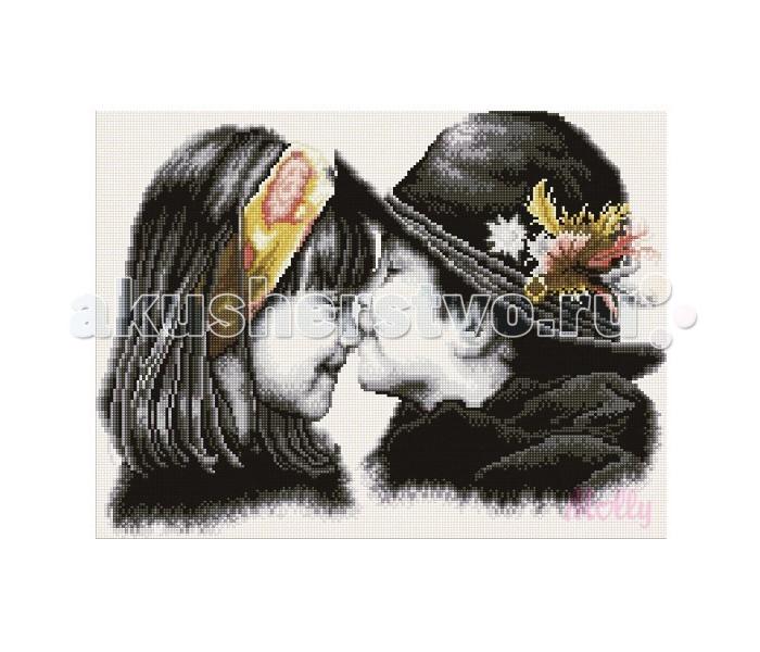 Molly Мозаичная картина Трогательный поцелуй 40х50 см