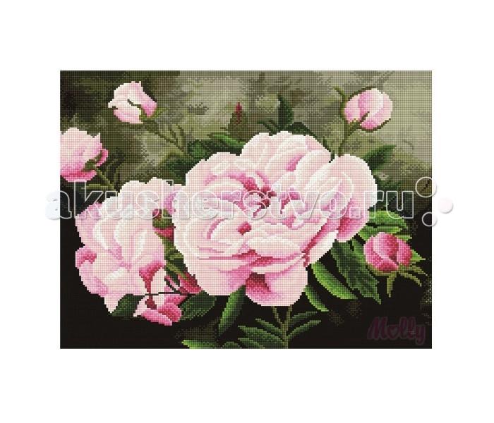 Molly Мозаичная картина Аромат пионов 40х50 см