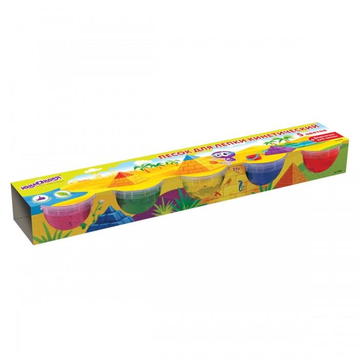Купить Юнландия Песок для лепки кинетический с формочкой 5 цветов 700 г в интернет магазине. Цены, фото, описания, характеристики, отзывы, обзоры