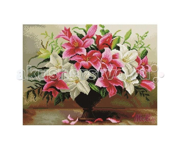 Molly Мозаичная картина Садовые лилии 40х50 см