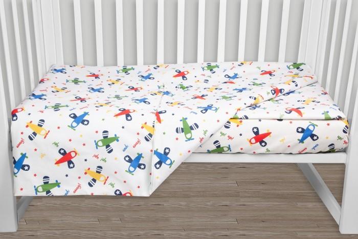 Фото - Постельное белье AmaroBaby Baby Boom Самолёты (3 предмета) amarobaby комплект в кроватку baby boom короны 3 предмета серый