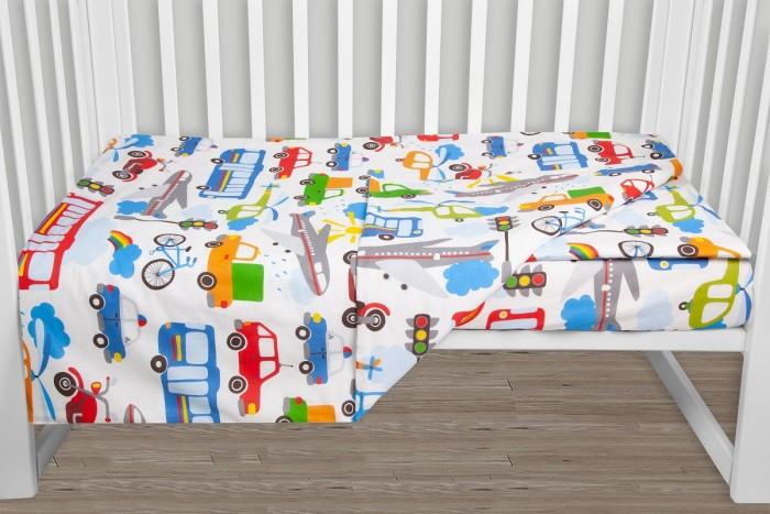 Фото - Постельное белье AmaroBaby Baby Boom Городской транспорт (3 предмета) amarobaby комплект в кроватку baby boom короны 3 предмета серый
