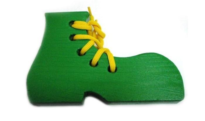 Деревянные игрушки Бэмби шнуровка Крашеный ботинок