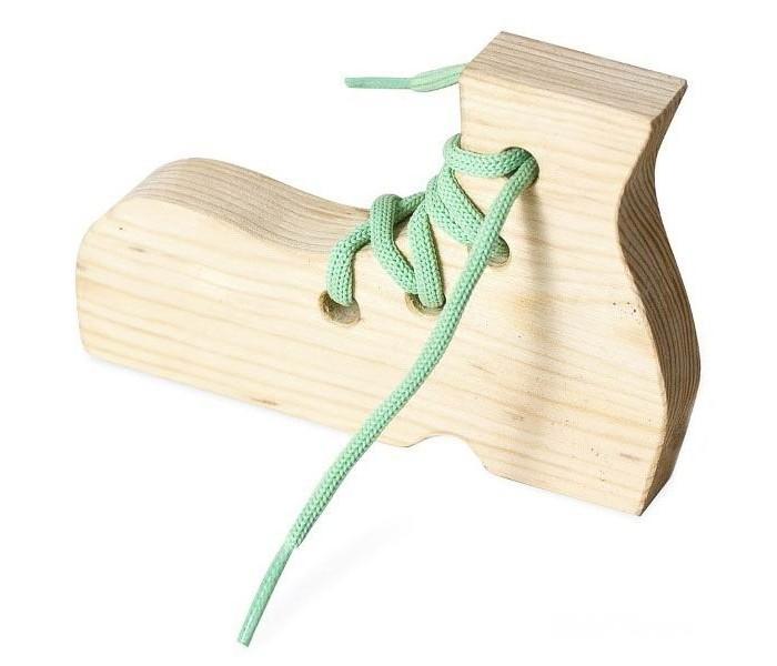 Деревянные игрушки Бэмби шнуровка Ботинок