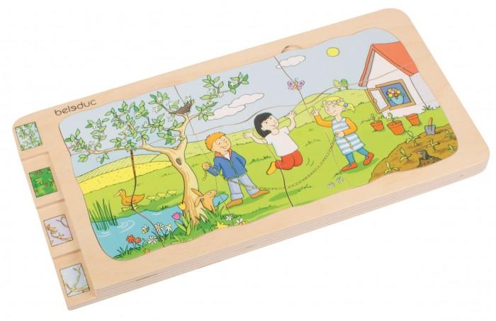 Купить Деревянные игрушки, Деревянная игрушка Beleduc Развивающий пазл 4 сезона