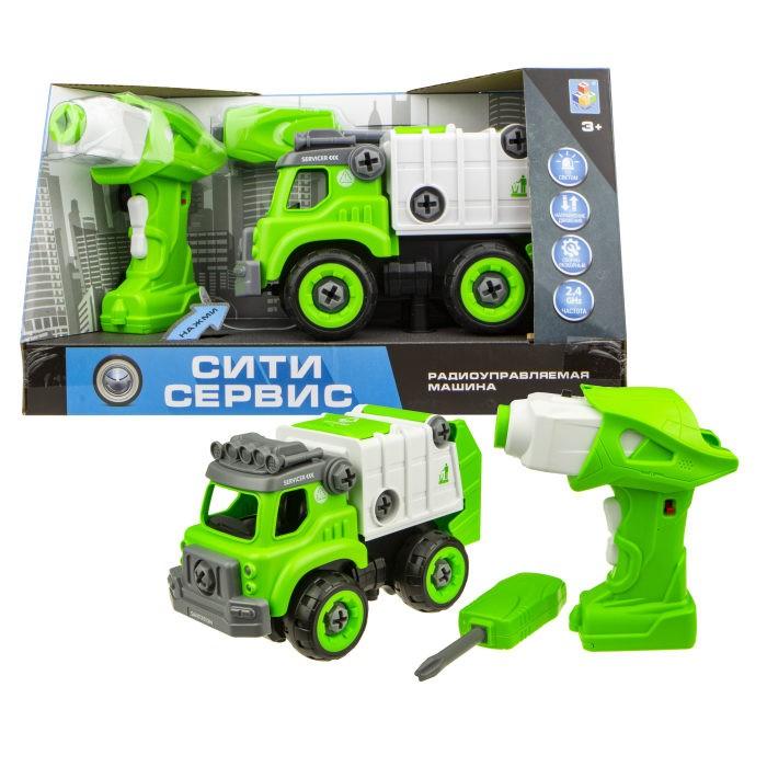 Радиоуправляемые игрушки 1 Toy Машинка Сити-сервис экослужба на радиоуправлении
