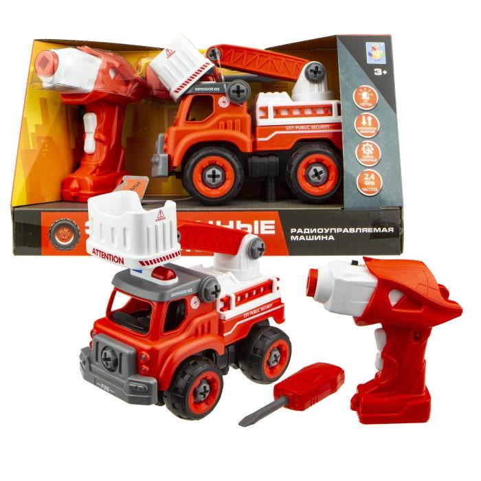 Купить Радиоуправляемые игрушки, 1 Toy Машинка Экстренные службы пожарный подъемник на радиоуправлении