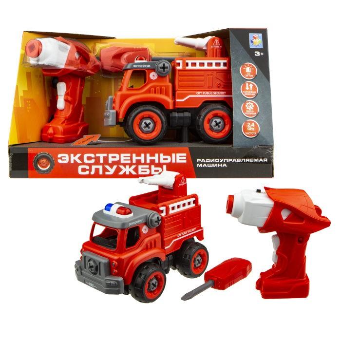 Купить Радиоуправляемые игрушки, 1 Toy Машинка Экстренные службы пожарный грузовик на радиоуправлении