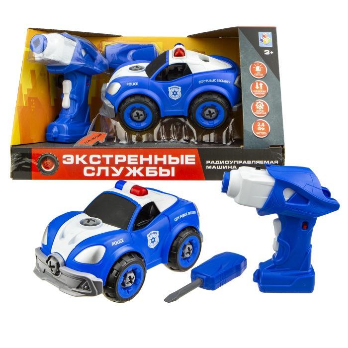 Купить Радиоуправляемые игрушки, 1 Toy Машинка Экстренные службы патрульная машина на радиоуправлении