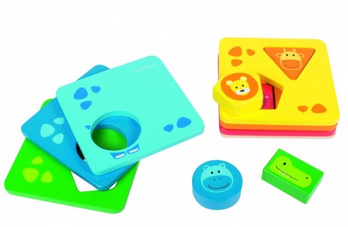 Купить Деревянные игрушки, Деревянная игрушка Beleduc развивающая Пирамидка с формами